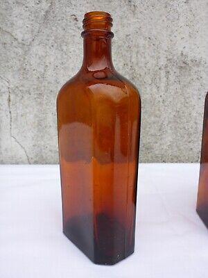 5 x alte braune Medizin Glas Apotheke Apotheker Flasche 250 ml ca. 17,0 cm braun 6