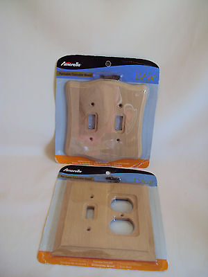 Vintage Wood Switch Covers Set Of Two 2