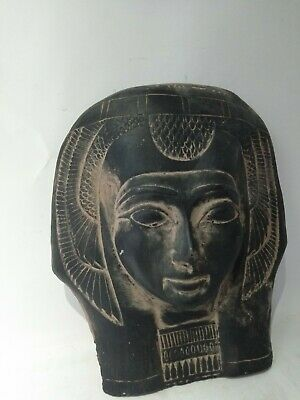 RARE ANCIENT EGYPTIAN ANTIQUE MASK QUEEN Tetisheri 1457-1390 BC 3