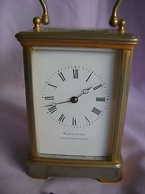 ANTIQUE c1880 FRANCOIS ARSENE MARGAINE TIMEPIECE CARRIAGE CLOCK + KEY IN GWO 2