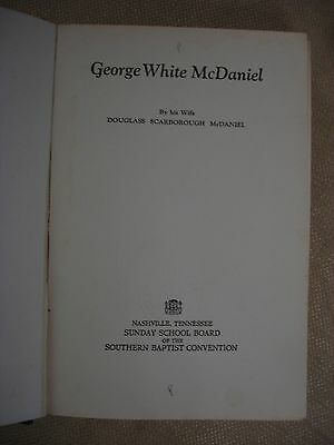 George White McDaniel - 1928 - Signed by Douglass Scarborough McDaniel 4