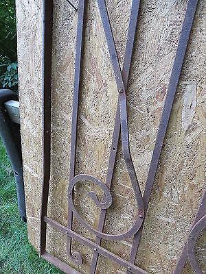 Antique Victorian Iron Gate Window Garden Fence Architectural Salvage Door FFF 3