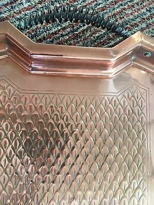 Copper arts and craft style tray 3