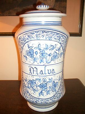 Deruta - Apotheker Vasen Majolika italienische Keramik handgemalt Paar 3