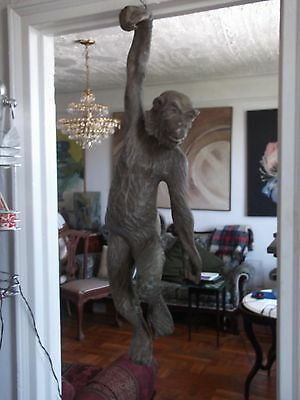 rare antique /vintage very large hand carved monkey 2