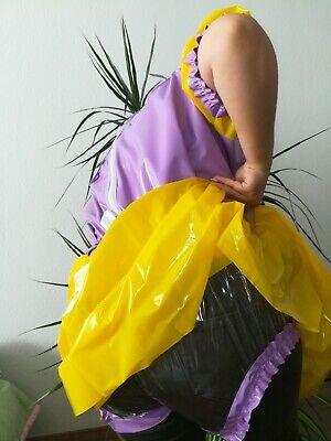 Adult Baby Kleid  INTEGRIERTE Windelhose Sissy PVC LACK Diaper Plastik L- XL 4