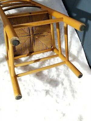 Antique Shaker Style Ladder Back Accent Chair Woven Seat (2 available) 10