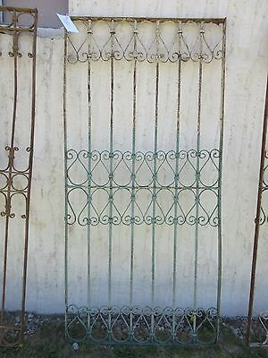 Antique Victorian Iron Gate Window Garden Fence Architectural Salvage Door #380 2