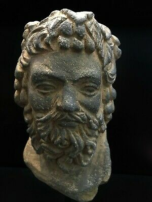 Lovely Authentic 3-4th Century A.D. Gandhara 犍陀罗 Vajrapani greek Head 7