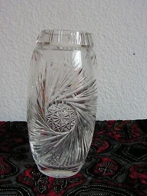 schöne alte schwere Vase | Glas mit Schliff | ca. 1,5 kg Gewicht | 488 2