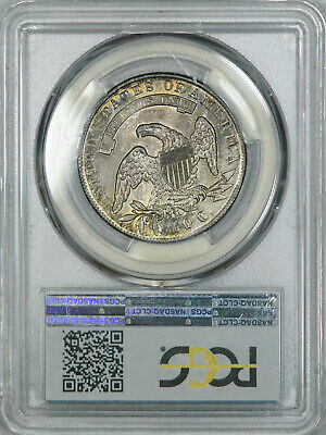 1835 PCGS MS63 PQ Bust Half, attractive old patina & luster, much tougher in MS 4
