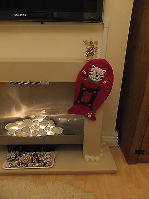 Fish Shaped Christmas Stocking For Your Cat * Clear Pocket For Photo * Cac 08 3