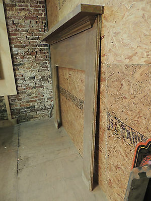 Antique 19c American Grain Painted Fireplace Mantel - Pine & Square Nail VR 4