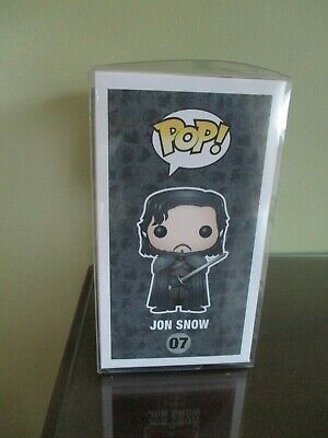 Funko Pop! Game of Thrones Bloody Jon Snow #07 Hot Topic With Protector 4