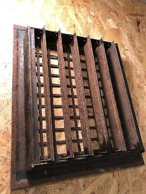 N 26 Antique Sheet Metal Heating Grate With Fins 5