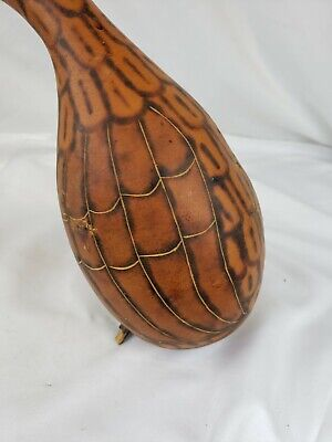 Native american carving pumpkin / squash, hand painted 5