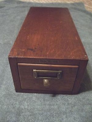 1 Drawer Globe - Wernicke Oak Card File, Original aged Patina, Free S/H 2 • £85.55