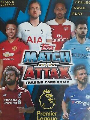Match Attax 18/19 bundle of 10 cards 1-384 - You choose 2