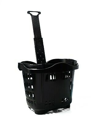Plastic Wheeled Shopping Trolley Basket  - 43 Litre Various Colours 4