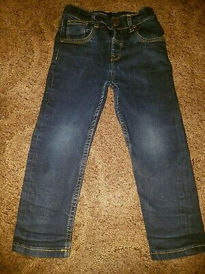 Boys Navy Blue Jeans Size 3-4 Years 6