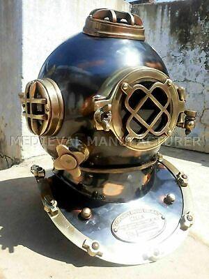 "Antique 18"" Diving vintage BOSTON MARK V U.S Navy Deep Sea Divers Helmet Replica 4"