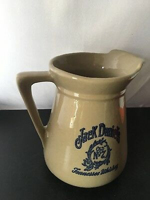 Jack Daniels Stoneware Pitcher Crock Vintage No 7 Tennessee Whiskey