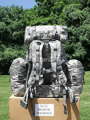 $259 Fully Loaded Molle ACU Medium Rucksack Military Backpack Hydration Pouches 2