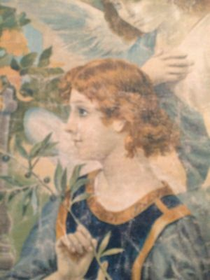 Luigi Morgari Fresco Painter (Canvas) Mary Holding Baby Jesus and Joyous Angels 4