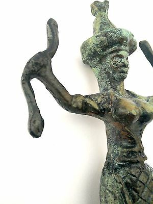 Ancient Greek Bronze Museum Statue Replica Of The Snake Goddess Collectable 1250 5