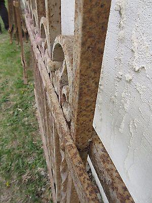 Antique Victorian Iron Gate Window Garden Fence Architectural Salvage Door #316 5