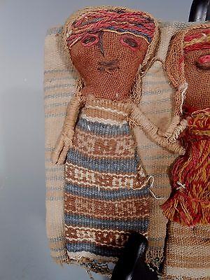 Peru Peruvian Central Coast Chancay Fabric Cotton Burial Dolls  #3 2