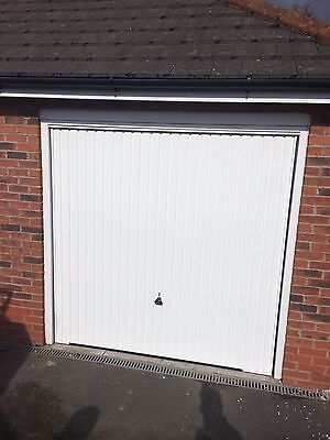 ... Garador Carlton Canopy Garage Door White Up And Over Steel New Vertical  Hormann