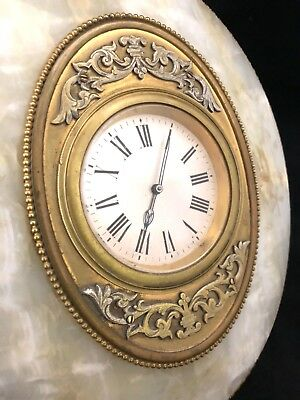 Antique Onyx & Gilt Ormolu 8 Day Mantel Bracket Easel Clock ROBINSON SHREWSBURY 5