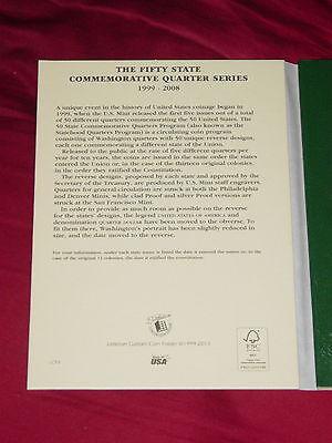 Complete set US STATE QUARTERS 1999-2008 New Littleton folder 3