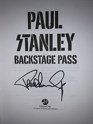 Paul Stanley Backstage Pass Signed Book Kiss + Bonus Event Flyer  Ace Gene Peter 2