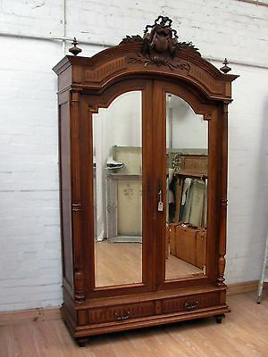 Imposing Antique French Solid Walnut Armoire - C1880 2