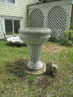 ART DECO / ART NOUVEAU two piece garden JARDINIERE / PLANTER delivered if needed