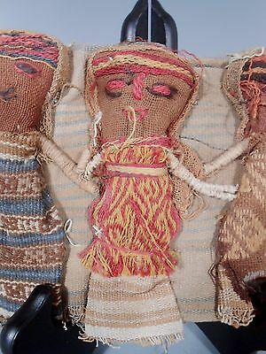 Peru Peruvian Central Coast Chancay Fabric Cotton Burial Dolls  #3 3