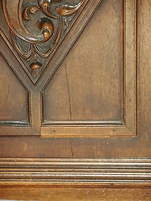 Fabulous lot of 2 French Antique Carved Oak Wood Door Panel, Gothic pattern 6