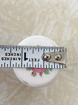 Vintage Salvage White Ceramic Pink Rose Drawer Pulls Qty Of 7 11