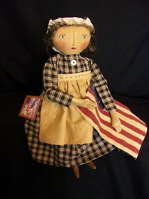 PATTERN,Sewing,Primitive dolls,Americana,Betsy Ross, Dumplinragamuffin, #290 5