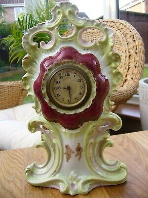 Victorian ceramic mantle clock WORKING 10