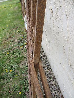 Antique Victorian Iron Gate Window Garden Fence Architectural Salvage Door #312 4