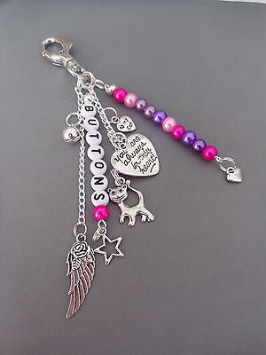 Pet Loss/In Memory memorial loss of cat, key/bag charm, personalised free 6