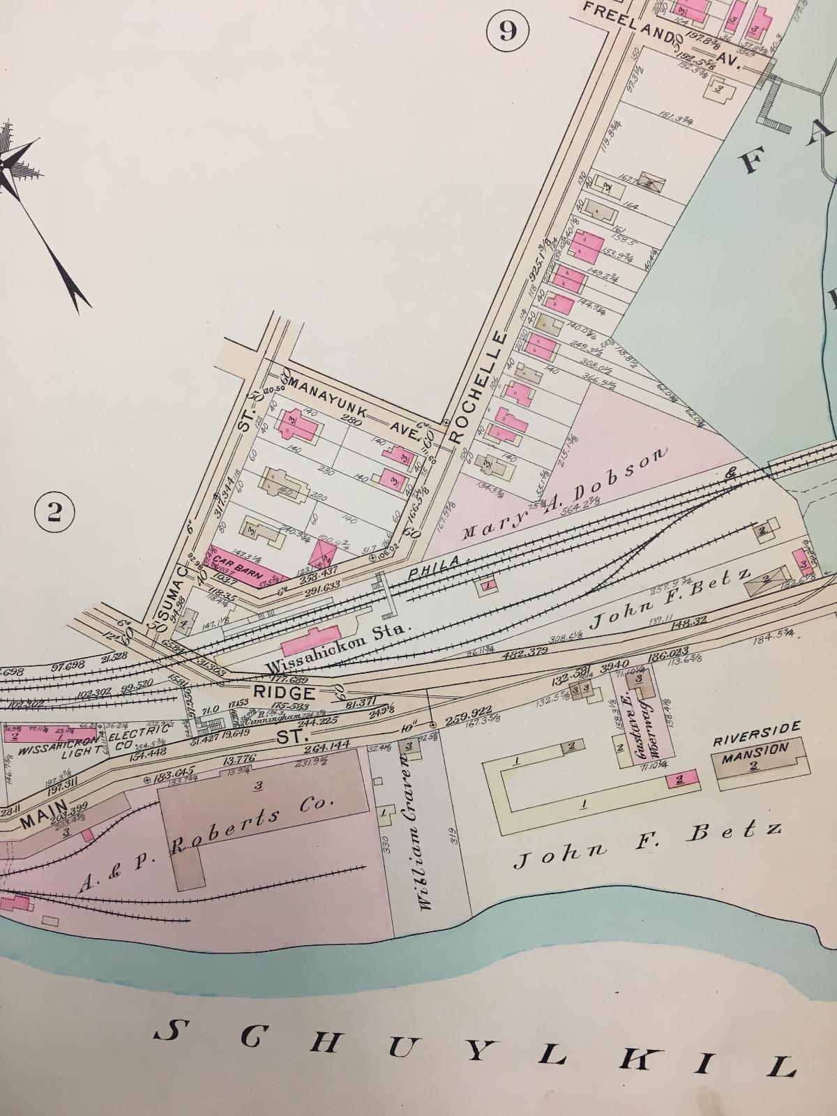Fairmount Park Riverside California Map.1911 Philadelphia Pa Fairmount Park Gustine Lake Riverside Mansion Atlas Map