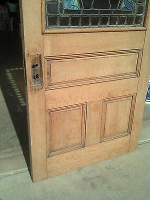 1/2 stained/beveled/jeweled stripped entrance door   (ED 4)