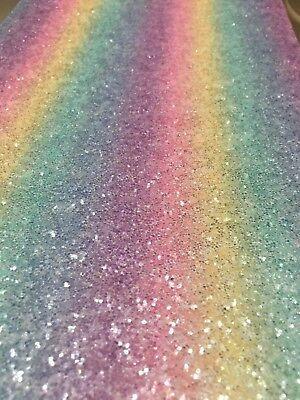 Rainbow 3d Glitter Wall Fabric Wallpaper Self Adhesive