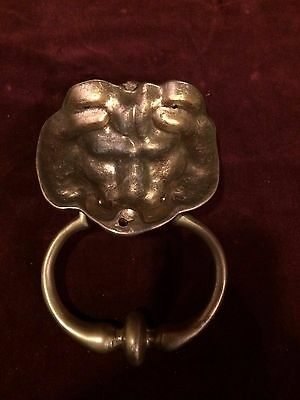 Vintage Brass DOOR KNOCKER Lion's Head 3