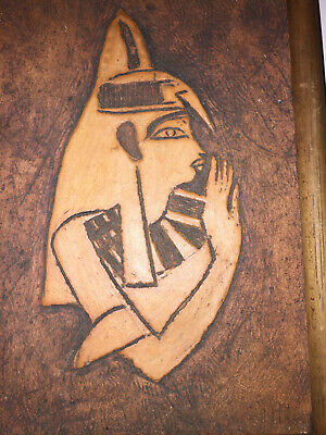 2  Antique Terracotta Carved Wall Plaque, Art, Egyptian Folk Art Signed, Nice 6
