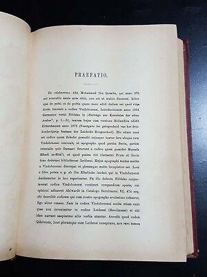 ARABIC ANTIQUE LITERATURE BOOK (al-Shi'r wal-Shu'arā) reprinted of Brill 1902 11